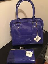 Baekgaard TANZANITE Handheld Lady Bag  & Out On The Town Clutch Wallet NWT 👀