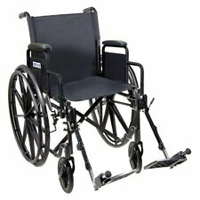 Lightweight Manual Wheelchair Desk Full Arms Swing Folding Portable Medical Care