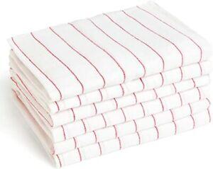 Catering Tea Towels Pack of 10 Kitchen Restaurant Bar Glass Cloths Cotton Rich