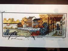 """Photograph of Chinese Architecture cancelled Stamp 11""""x14"""""""
