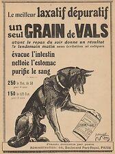 Y9411 Laxatif Grains de Vals - Illustrazione cane - Pubblicità d'epoca - 1916 Ad