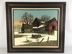 """H. Hargrove """"First Snow"""" Signed #405/750 Limited Edition Seriograph Painting"""