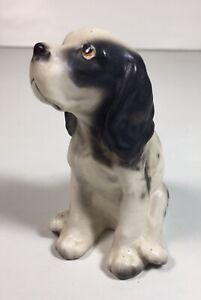 "Vintage Ceramic Springer Spaniel Dog Figurine Made in Japan 3.5"""