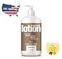 🔴 Everyone Body Lotion, Unscented Face, Hands & Body Moisturizer 32 fl oz