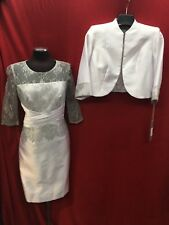 """TALLY TAYLOR DRESS SUIT/LINED/RETAIL$240/SIZE 18/DRESS LENGTH 42""""/NEW /WHITE"""