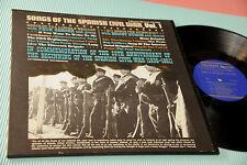 PETE SEEGER GROUPE LP CHANSONS OF ESPAGNOL CIVIL WAR ORIG USA EX RARE + BROCHURE