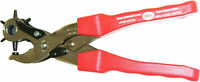 Revolver Lever Punching Pliers with 6 Pipe Pipes For Leather Belts etc - Selzer