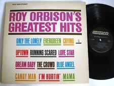 Vintage 1972 Roy Orbison Greatest Hits LP Stereo Vinyl Record 12 Songs