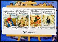 CENTRAL AFRICA  2017  RELIGIOUS  PAINTINGS SHEET MINT NH