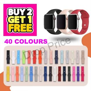 For Apple Watch Strap Band iWatch Series 6 SE 5 4 3 SILICONE Sport