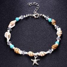 Anklets Women Sandal Bracelet Foot Jewelry 1pc Boho Shell Conch Beads Starfish