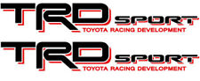 TOYOTA TRD Sport Decals Tacoma Sticker Tundra truck bedside Red Black N3