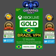 Microsoft - Xbox Live Gold 12 Month Membership (BRAZIL Region) VPN required