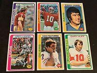1978 Topps Football Quarterback lot of 13 cards