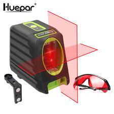 Huepar 2 lignes Rouge Faisceau Croix Ligne Laser Niveau Auto-nivellement Vertica