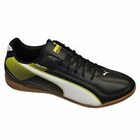 New Puma Mens Esquadra IT Black Indoor Football Trainers
