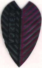 Black and Purple Vortex Dart Flights: 3 per set