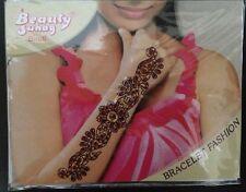 Dark Red Gold Glitter Wrist Arm Bindi Tattoo Sticker Body Art Rhinestone 1