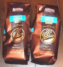 Dunkin Donuts Four Pounds New Bag Ground French Vanilla Coffee Free Ship