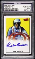 1979 Reb Brown Captain America Signed LE Trading Card (PSA/DNA Slabbed)