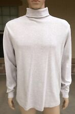 Vintage Covington Long Sleeve Turtle Neck Shirt USA Made Size Large Solid Beige