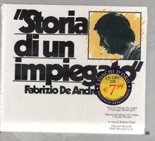 FABRIZIO DE ANDRE' STORIA DI UN IMPIEGATO CD 2003 DISCHI ORO F.C. SIGILLATO!!!
