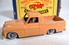 "Matchbox RW50A Commer Pick-up braun rare silberne Räder in ""MOKO"" Box"