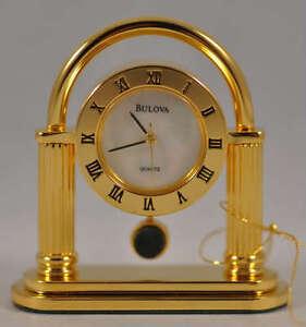 New Old Stock Bulova B0567 Berkeley Mini Collectors Executive Desk Clock Watch