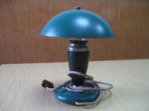 Vintage Rare Soviet Russan green lamp USSR 1950 year