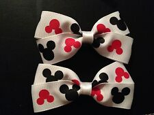Mickey Mouse Hair Bows with Alligator Clips