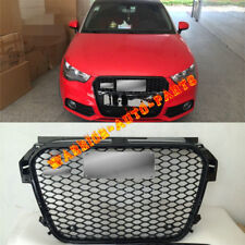 For Audi RS1 Front Sportback Glossy Black Honeycomb Grille for Audi A1 2011-2012
