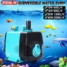 600-3000L/H Submersible Aquarium Fountain Pond Water Pump Fish Tank  Marine