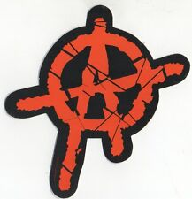Anarchist Anarchy Symbol A Vinyl Bumper Board  Sticker Conflict Crass Punk