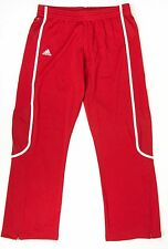 ADIDAS Womens LT Large Long Red & White Team Training Sweats Sweatpants NWT