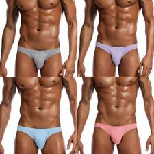 Mens Underwear Boxer Briefs Low Waist Bikini Shorts Solid Underpants Panties