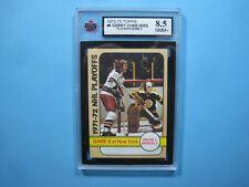 1972/73 TOPPS NHL HOCKEY CARD #6 GERRY CHEEVERS KSA 8.5 NM/MINT+ BOSTON BRUINS