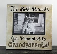 RUSTIC HANDMADE WOOD GRANDPARENT 4 X 6 PICTURE FRAME PHOTO SIGN HOME DECOR 1017