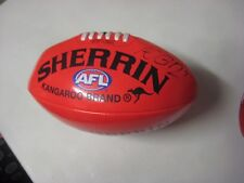 Richmond - Nathan Brown signed red soft touch sherrin football + COA