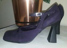 Fiore size 6 purple plum court shoes vintage style ankle strap *New
