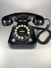 Vintage Black Retro Grand Phone Push Button Rotary Style Desktop Pottery Barn