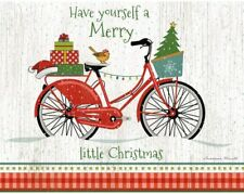 LANG Deluxe Boxed Christmas Cards CHRISTMAS BIKE Bicycle Boho Chic Glamour Cool
