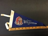 Souvenir Of Williston North Dakota Vintage Felt Pennant Combine Shipping