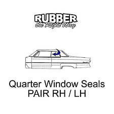 1965 1966 1967 1968 Chrysler Dodge Plymouth Quarter Window Seals - Conv't