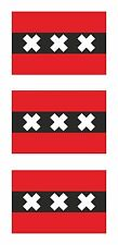 Amsterdam 3x Flag Stickers