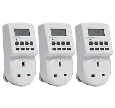 3 x 7 DAY DIGITAL LCD ELECTRONIC PLUG-IN PROGRAM 12/24 HOUR TIMER SWITCH SOCKET
