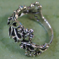 Pretty Flower Ring Sterling Silver Size.US=6 UK=L