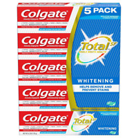 Colgate Total Whitening Toothpaste Gel 6.3 Oz PACK OF 5