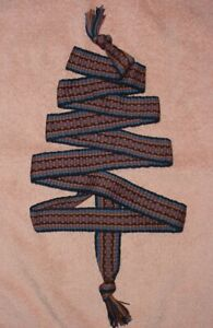 "70""(1 3/8 inch wide)  inkle woven belt sash strap mountain man powder horn"