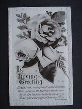 Vintage Used Black & White Greetings Post Card
