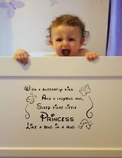 "Nursery cot/wall vinyl sticker approx  8""x12""  also available in white"